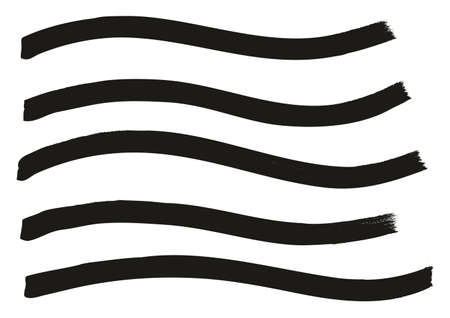 Tagging Marker Medium Wavy Lines High Detail Abstract Vector Background
