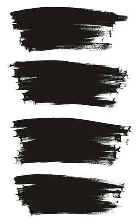 Calligraphy Paint Thin Brush Background Long High Detail Abstract Vector Background Set 131