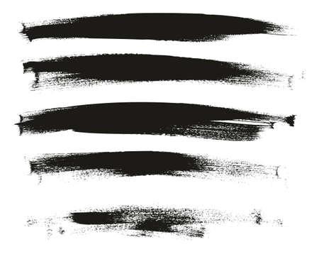 Calligrafia vernice pennello sottile sfondo lungo ad alto dettaglio sfondo vettoriale astratto impostato 112 Vettoriali