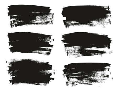 Fondo de pincel fino de pintura de caligrafía Fondo de vector abstracto de alto detalle largo conjunto 94