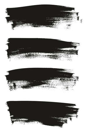 Calligraphy Paint Thin Brush Background Long High Detail Abstract Vector Background Set 25
