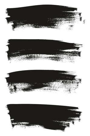 Kalligraphie Farbe Dünne Pinsel Hintergrund Lange Hohe Detail Abstrakte Vektor Hintergrund Set 25