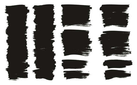 Calligraphy Paint Thin Brush Background Short High Detail Abstract Vector Background Ilustração