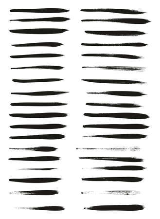 Calligraphy Paint Thin Brush Lines High Detail Abstract Vector Background