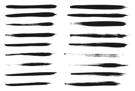 Peinture Calligraphie Avec Des Lignes De Pinceau Minces Fond Abstrait Vecteur Détaillé