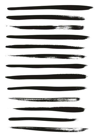 Calligrafia Vernice Pennello Sottile Linee Elevato Dettaglio Astratto Vettoriale Background