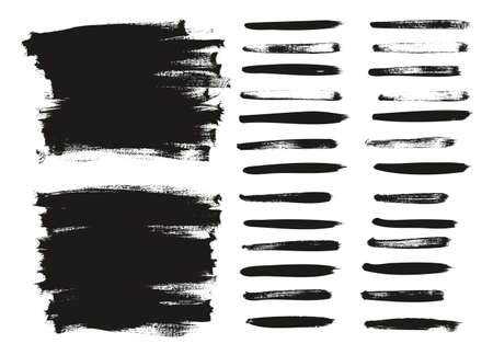 Calligraphy Paint Wide Brush Background Long & Straight Lines High Detail Abstract Vector Background Set 20