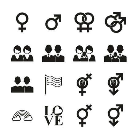 Homosexual Icons Black & White Set