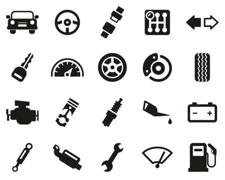 Car Or Car Parts Black & White Set Big