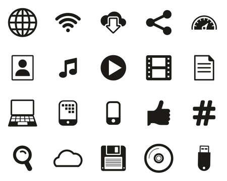 Download Icons Black & White Set Big