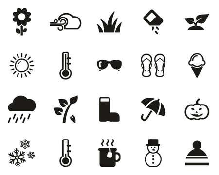Four Seasons Icons Black & White Set Big