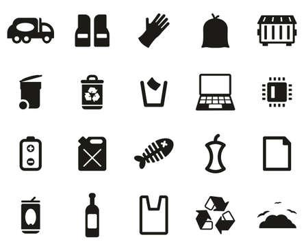 Garbageman Icons Black & White Set big