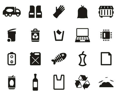 Garbageman Icons Black & White Set big