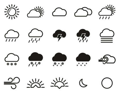 Weather Icons Black & White Set Big