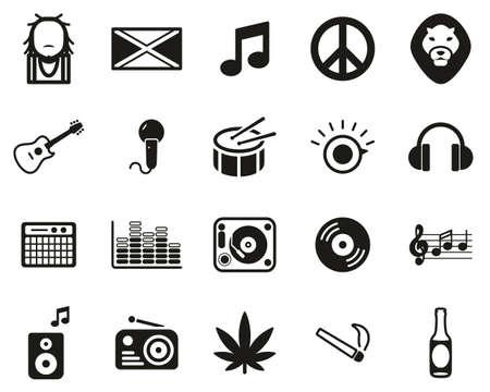 Reggae Music & Culture Icons Black & White Set Big