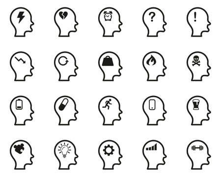 Stress & Pressure Icons Black & White Set Big