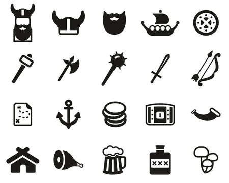 Viking Icons Black & White Set Big