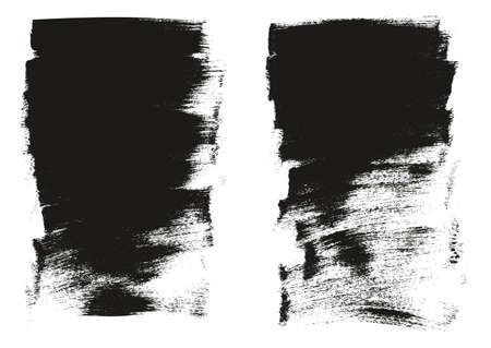 Calligraphy Paint Wide Brush Background Short High Detail Abstract Vector Background Set 45 Ilustração Vetorial