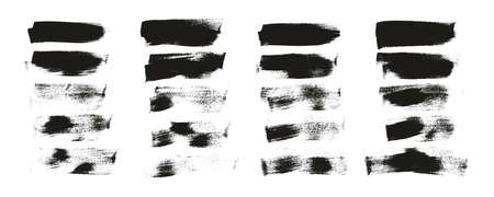 Calligraphy Paint Wide Brush Background Short High Detail Abstract Vector Background Set 155 Ilustração Vetorial