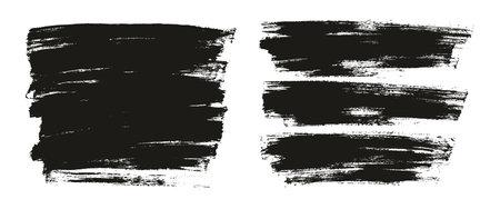 Flat Paint Brush Thin Full Background High Detail Abstract Vector Background Mix Set Ilustração Vetorial