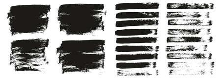 Flat Paint Brush Thin Short Background & Straight Lines Mix High Detail Abstract Vector Background Mix Set Ilustração Vetorial