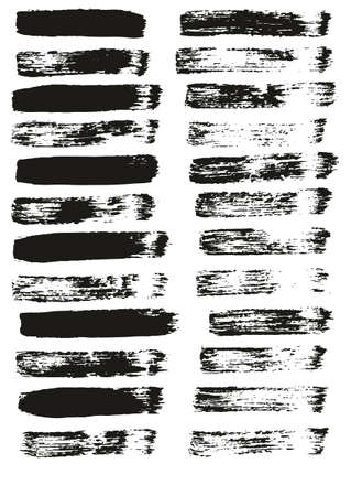 Flat Paint Brush Thin Straight Lines High Detail Abstract Vector Background Set Vecteurs