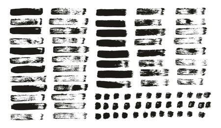 Flat Paint Brush Thin Straight Lines High Detail Abstract Vector Background Mix Set