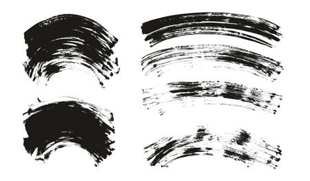 Flat Fan Brush Regular Curved Background Mix High Detail Abstract Vector Background Mix Set Ilustração Vetorial