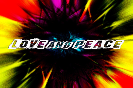 Love and peace text quote Twirl colorful effect 4000 with 6000 pixel background wallpaper fine art digital photography