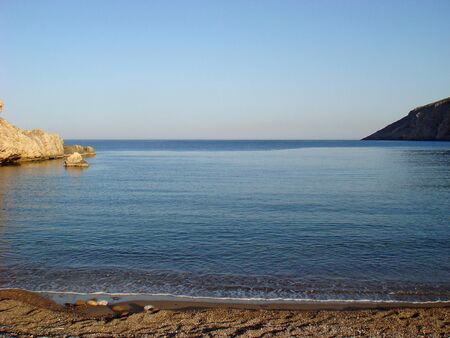 Beach in Kreta island karoumes background wallpaper fine art prints