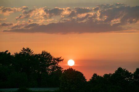 Fondo de hermoso momento de brillo de sol