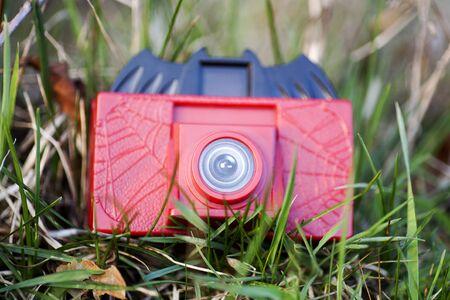 Fond de macro de caméra jouet Banque d'images