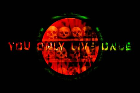 Text you only live only quote background quote wallpaper prints Stock fotó