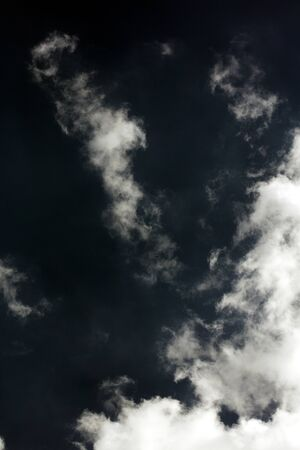 Stormy dark sky with clouds boost trip fifty megapixels fine art Imagens - 128605505