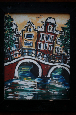 Amsterdam old paintings macro background high quality