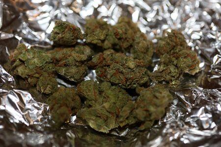 Cannabis medical AMG skunk macro background stock photography