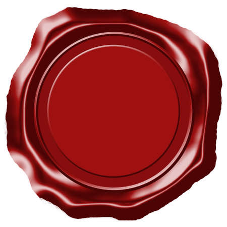 authenticity: Empty wax seal isolated on white Stock Photo