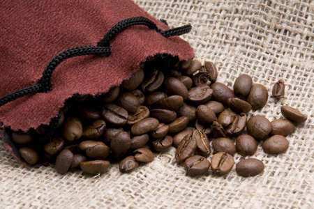 coffeebeans: Bag of coffee and coffee-beans
