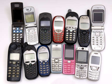 used old GSM Cell phones Stock Photo - 3597870