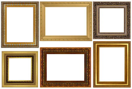 Antique frames collection isolated on white background photo