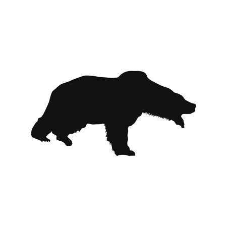 bear silhouette vector illustration isolated on white background.