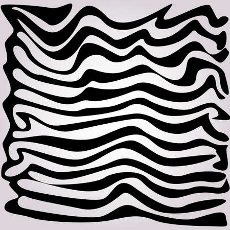 Abstract lines retro background. Black and white striped textured geometric pattern. Vector Illustration.