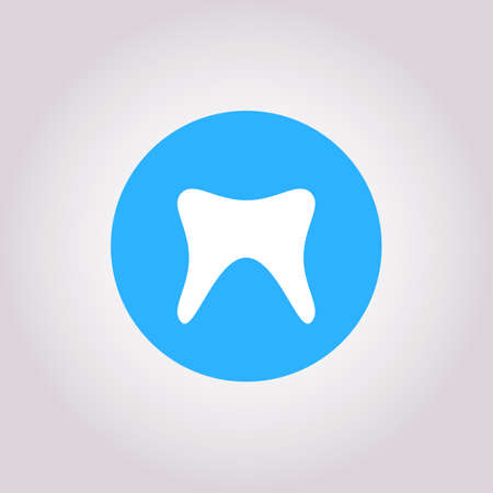 Health Dent  design vector template flat line style. Cosmetic dental dentistry. Dental clinic  concept icon. Health tooth poster or card. Vettoriali