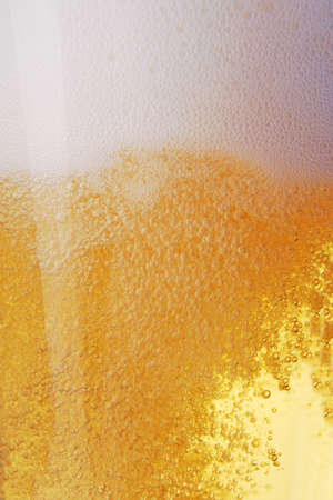 head close up: Close up of beer