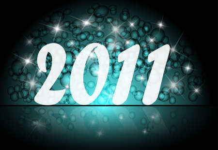 New Year card for 2011, vector Stock Vector - 9136105