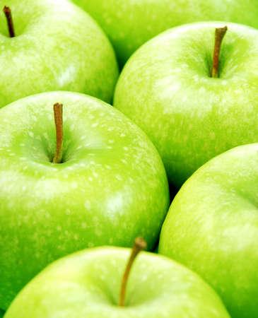 manzana verde: Fondo de manzana verde cerca foto