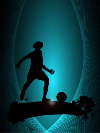 Soccer player, vector illustration Vector