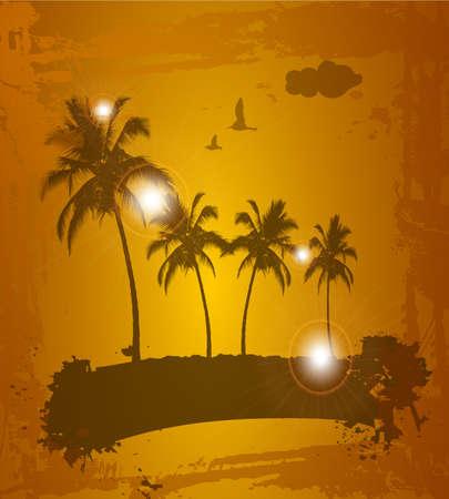 Tropical background  illustration Vector