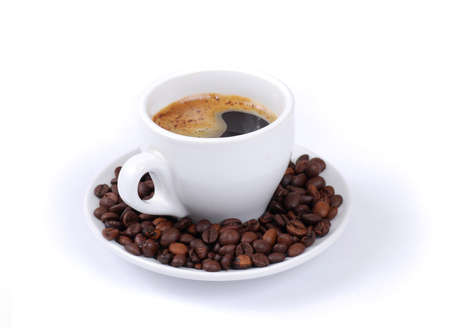 Coffee cup in white