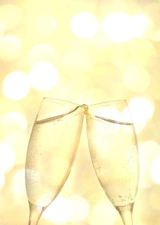 Two elegant champagne glasses  photo